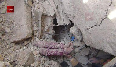 Girl buried in house by bomb