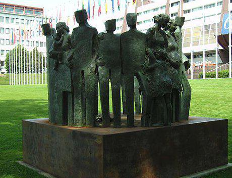 Memorial outside Council of Europe in Strasbourg