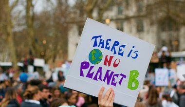 'There is no planet B' placard at London demo