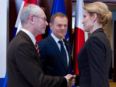President of the Council Van Rompuy with Danish PM Helle-Thorning-Schmidt and Polish PM Tusk. Flickr/EC. Some rights reserved.