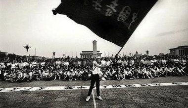 Flag-waver at Tiananmen, 1989. Robert Croma/Flickr. Some rights reserved.