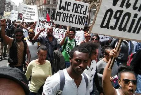 Eritreans protest in Liverpool, 2015 (Right to Remain)