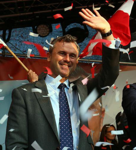 Norbert Hofer candidate for presidential elections of Austria's Freedom Party. Credit: Ronald Zak/AP/Press Association Images. A