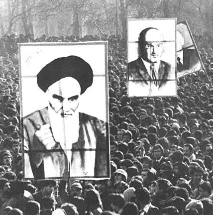 Ali Shariati (middle). January 13, 1979. Photo by Bahman Jalali. All rights reserved.