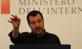 Matteo Salvini, Italy's deputy prime minister, is set to speak at this week's World Congress of Families in Verona. Picture: Esposito Salvatore/Zuma Press/PA Images. All rights reserved.