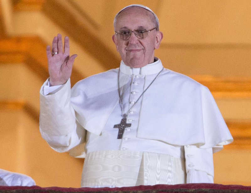 The newly elected Pope Francis, in 2013.