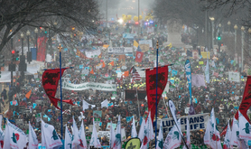The annual anti-abortion March for Life in Washington DC, 2016