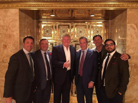 Arron Banks (second from the left).
