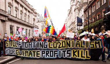 Leading the People's Climate March London. Wretched of the Earth collective