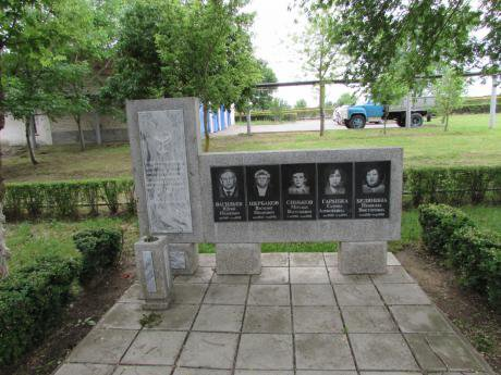 Memorial to medical workers killed in the hospital in Budyonnovsk.