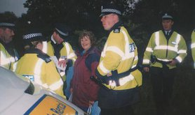 Molly Harvey and six police officers