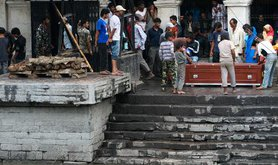 funeral of Nepalese migrant worker returned from Qatar to Katmandhu