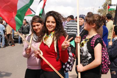 A new generation of Israeli Palestinian women commemorate Land Day, northern Israel, March 2012