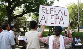 Irom's cause reaches Delhi, where this 2009 protest took place to challenge the AFSPA. Joe Athialy/Flickr. Some rights reserved.