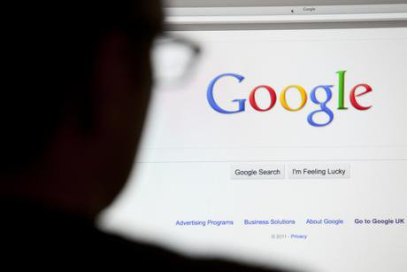 Image of Google search screen
