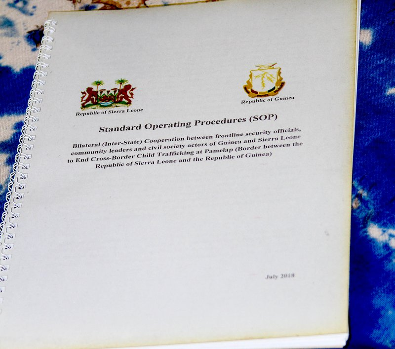 Standard operating procedures for preventing child trafficking document for Guinea and Sierra Leone