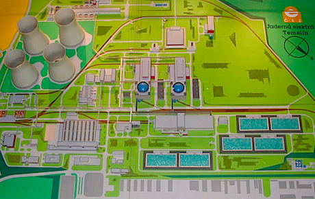 A model of the Temelin nuclear power station. Wikimedia Commons/Li-Sung. Some rights reserved.
