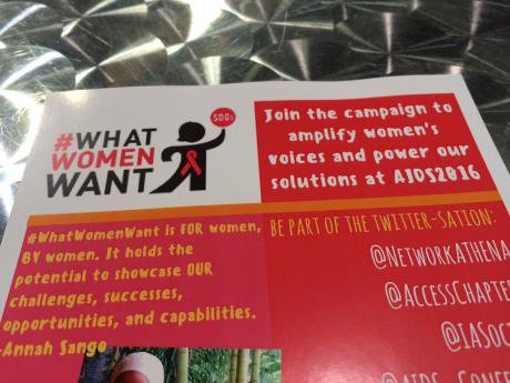 the whatwomenwant twitter campaign banner in the Women's Networking Zone,.jpeg