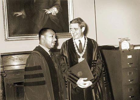 Kingman Brewster and Martin Luther King. Yale University. All rights reserved.